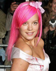 Cabello Rosa Fluorescente Lily Allen