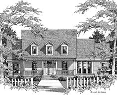 Country House Plan with 2550 Square Feet and 4 Bedrooms(s) from Dream Home Source | House Plan Code DHSW46764