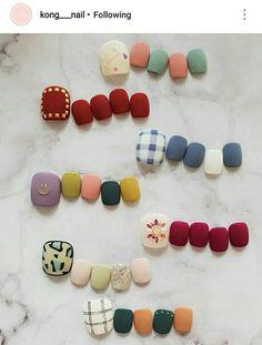 Pin on Nail& Pin on Nail& Korean Nail Art, Korean Nails, Pedicure Designs, Toe Nail Designs, Feet Nail Design, Asian Nails, Nail Drawing, Subtle Nails, Feet Nails