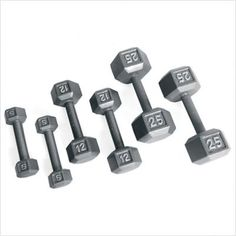 bbe991dd8e1 Weight  2 lbs Features  -One dumbbell. -Solid hex dumbbells are made with  the highest durability of cast iron and completed with a baked in gray ena