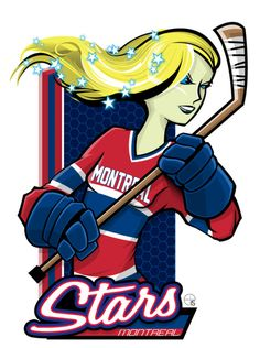 This season, our good friend Eric Poole has expanded his repertoire to include Canadian Women's Hockey League teams. This is the Montréal Stars. Caps Hockey, Hockey Rules, Hockey Logos, Nhl Logos, Women's Hockey, Hockey Girls, Hockey Stuff, Sports Logos, Montreal Canadiens