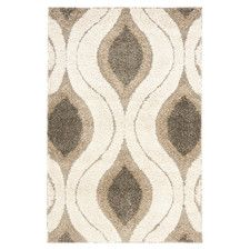 Florida Cream & Smoke Shag Area Rug