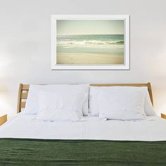Beach photography vintage inspired ocean waves - got this above my bed :)