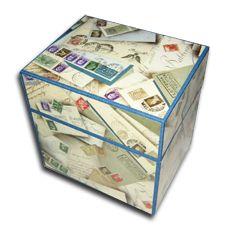 Box with postpaper around Decorative Boxes, Books, Handmade, Home Decor, Livros, Hand Made, Book, Craft, Interior Design