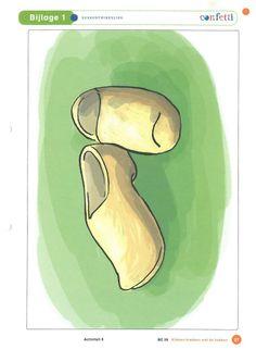 Soorten schoenen: klompen.