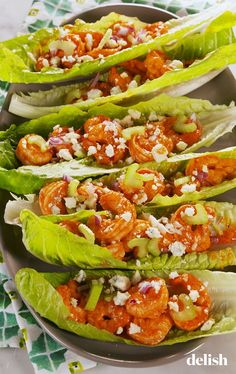 buffalo shrimp Meet your new favorite low-carb lunch. It's super-flavorful, fresh, and ready in under an hour! Read on to see the recipe for Buffalo Shrimp Lettuce Wraps from ! Buffalo Shrimp Recipes, Shrimp Recipes Easy, Seafood Recipes, Health Shrimp Recipes, Shrimp Lettuce Wraps, Lettuce Wrap Recipes, Vegetarian Lettuce Wraps, Shrimp Tacos, Vegan Vegetarian