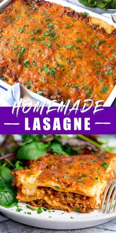 A real comfort food classic - this delicious homemade lasagne is stuffed with rich beef ragu and a creamy béchamel sauce. All finished with a golden cheese topping. Mini Crockpot Recipes, Mince Recipes, Easy Chicken Recipes, Asian Recipes, Beef Recipes, Cooking Recipes, Classic Lasagna Recipe, Best Lasagna Recipe, Lasagne Recipes