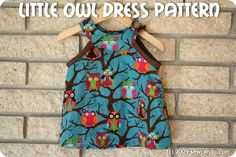 Sew Can Do: Little Owl Dress Pattern Is Here! great tute, love this lady : thanks so xox