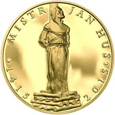 mistr Jan Hus Jan Hus, Coins, Personalized Items, History, Roman, Design, Bohemia, Historia, Rooms