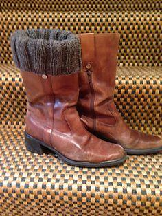 Brown Highlander Braveheart Outlander Renaissance Fair Peasant Costume Boot Mens