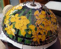 The Making of the Daffodil Lamp   Northants - Witney Stained Glass