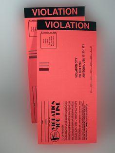 Fake Parking Violations (2 Pack)