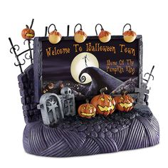 (Do not want) Amazon.com - Welcome To Halloween Town Billboard Tim Burton Nightmare Before Christmas Village Accessory by Hawthorne Village -