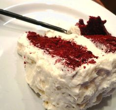 Red Velvet Cake - the way it SHOULD be made. No cream cheese frosting....just luscious buttery frosting.