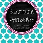This 20+ page EDITABLE substitute binder is a great tool to get you organized for a sub!