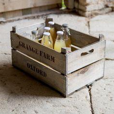 Wooden Fruit Box   Hjem og hage   Grace & Glory Home