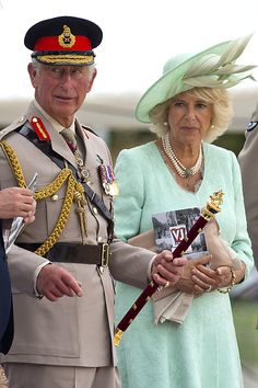 (L-R) Prince Charles, Prince of Wales and Camilla, Duchess of Cornwall attends the Drumhead Service during the 70th Anniversary commemorations of VJ Day (Victory over Japan) on Horse Guards Parade August 15, 2015 in London, England.