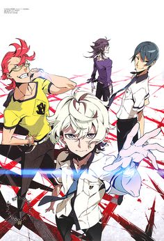 Kiznaiver (キズナイーバー)The PASH! Magazine (Amazon JP)exclusive reveal for the new Studio Trigger anime, Kiznaiver, included a poster of the cover art illustrated by animation character designer, Mai Yoneyama (米山舞).
