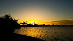 Por do sol na lagoa das Palmeiras