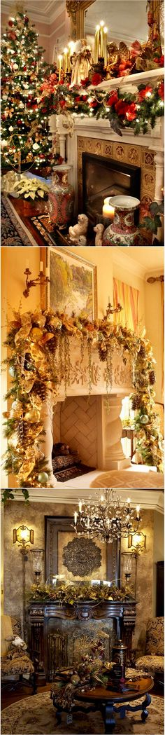 44 Exceptional Christmas Mantels and Mantelpiece Ideas