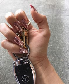 Rose Gold Chrome #nails on the lovely @magalytorres ✨                                                                                                                                                                                 More