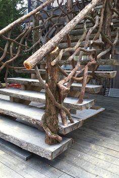 'Wilzig Rails' (mountain laurel and cedar hand rails)