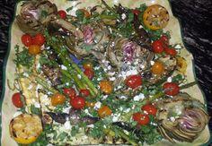 Grilled Artichoke & Mixed Veggie Platter