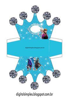 Frozen Themed Birthday Party, Disney Frozen Birthday, Disney Princess Party, Frozen Princess, Frozen Party, Birthday Party Themes, Frozen Cupcake Toppers, Frozen Cupcakes, Frozen Crown