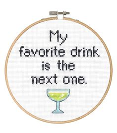 Say It! in cross stitch-Favorite Drink