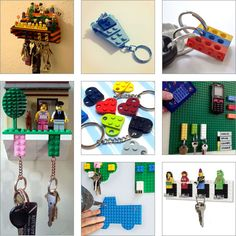 Cool DIY Lego Keychains Keyrings and Keyholders