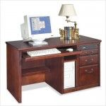 Kathy Ireland Home by Martin Furniture - Huntington Club Single Pedestal Computer Desk - HCR540  SPECIAL PRICE: $828.00
