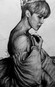I really like seeing jimin as a delicate creature ,somethin like a prince , princess , a fairy idk ajahahah hope u like it too ,i should… Jimin Fanart, Yoonmin Fanart, Kpop Fanart, Kpop Drawings, Dibujos Cute, Bts Imagine, Portraits, Jikook, Bts Pictures