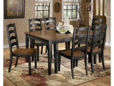 7pc Harningville Dining Room Set http://www.maxfurniture.com/dining/dining-sets/7pc-harningville-dining-room-set.html
