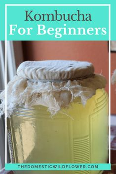 This post will share with you how to begin brewing kombucha tea in 7 easy steps. Read on to get your scoby on, Wildflowers. I cannot say I have ever had kombucha. As a working mom of small children… Kombucha Scoby, How To Brew Kombucha, Kombucha Drink, Kombucha Flavors, Canning Tips, Canning Recipes, Kefir, Kombucha Beneficios, Kambucha Recipe