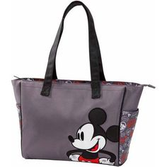 Disney Mickey Mouse Graffiti Large Tote Diaper Bag, Gray