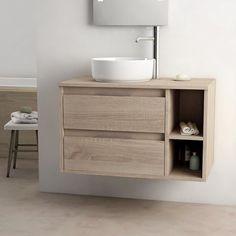 mobilier de salle de bains 39 nyu de idea group tiroirs d cal s ch ne fonc salle de bain. Black Bedroom Furniture Sets. Home Design Ideas