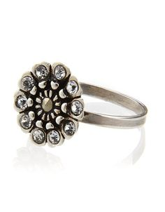 Sterling Silver Deco Petal Ring