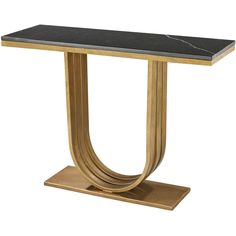 Dimond Home Olympia Console In Gold Leaf And Black Marble 114-142
