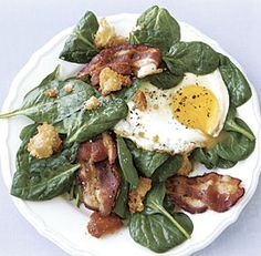 Spinach Salad with Fried Egg and Bacon recipe ***I made the salad dressing it was good, however we added honey to the dressing to make it delicious and tbsp of orange juice 4/5 PAG***