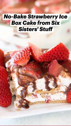 Frozen Desserts, No Bake Desserts, Icebox Desserts, Spring Desserts, Sweet Desserts, Quick Easy Desserts, Delicious Desserts, Quick Recipes, Yummy Treats