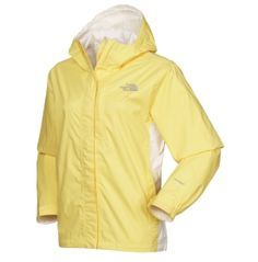 North Face rain jacket in YELLOW!!