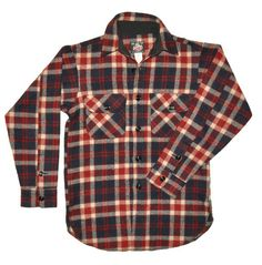 America Plaid Jacket by Johnson Woolen Mills  (size small available)