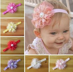 24eff602218 Hot Sale Hair Accessories For Infant Baby Lace Big Flower Pearl Princess  Babies Girl Hair Band Headband Baby S Head Band Kids Hairwear QZ406 Cheap  Bridal ...