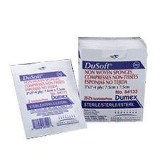 """BX/25 - Dusoft Sterile Non-Woven Sponge 4"""" x 4"""", 6-Ply"""