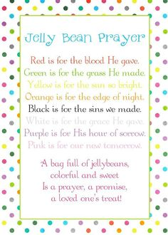 Jelly Bean Prayer for Easter