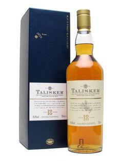 TALISKER 18 YEAR OLD.  One of our all-time favourite malts, Talisker 18 years old is a masterpiece from one of Scotland's greatest distilleries, and was named 'Best Single Malt Whisky in the World' at the World Whiskies Awards in 2007. Stunning balance of peat, spice and sweetness.  #whisky #whiskey £64.96