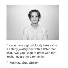 MARRY ME MATTHEW GRAY GUBLER.
