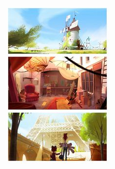 Conheça o portfolio do artista Juliaon Roels Bg Design, Prop Design, Game Design, Graphic Design, Cartoon Background, Animation Background, Art Background, Environment Concept Art, Environment Design