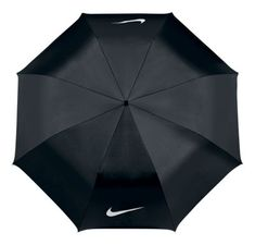 Nike Golf 42'' Single Canopy Collapsible Golf Umbrella - Black/White
