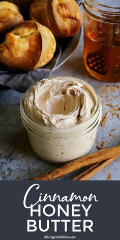 This whipped Cinnamon Honey Butter recipe is made with only 5 ingredients, in less than 10 minutes. A delicious topping for popovers, toast, muffins, waffles, pancakes, and so much more! #cinnamon #honey #butter #honeybutter #cinnamonhoneybutter Vegan Kitchen, Kitchen Recipes, Cooking Recipes, Beef Recipes, Breakfast Recipes, Dessert Recipes, Desserts, Chutney, Cinnamon Honey Butter